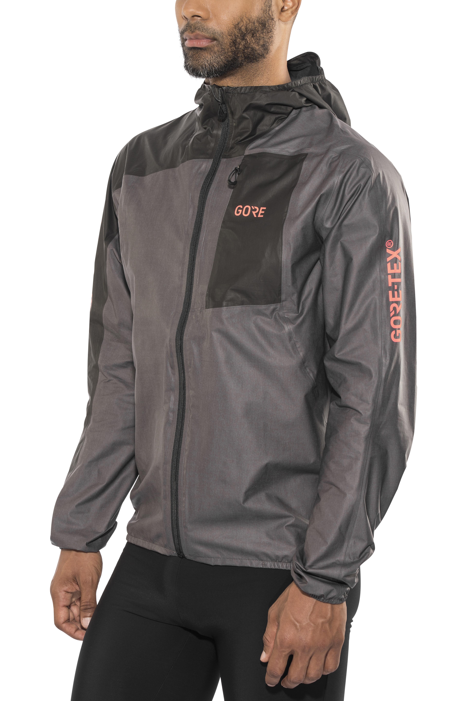 3acc2fadd6ee4 GORE WEAR R7 Gore-Tex Shakedry Hooded Jacket Men lava grey/black at ...